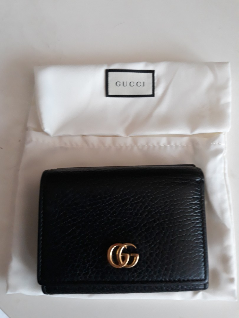 6f41c3eb8c17 Gucci Marmont Black Leather Ladies Wallet, Luxury, Bags & Wallets ...