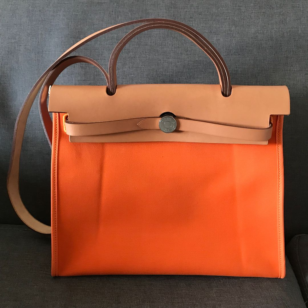5c7b30e14bd7 Hermes Herbag 31 Orange