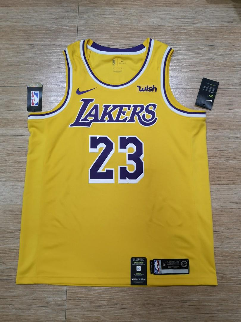best cheap 83068 41fb1 Lakers jersey Lebron James authentic wish, Men's Fashion ...