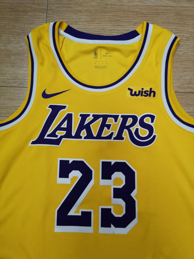 best cheap 612f8 fb6b1 Lakers jersey Lebron James authentic wish, Men's Fashion ...