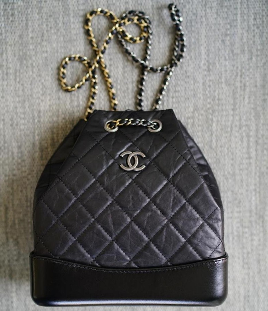 f9812b8f0ea0 Like new chanel black gabrielle mini backpack