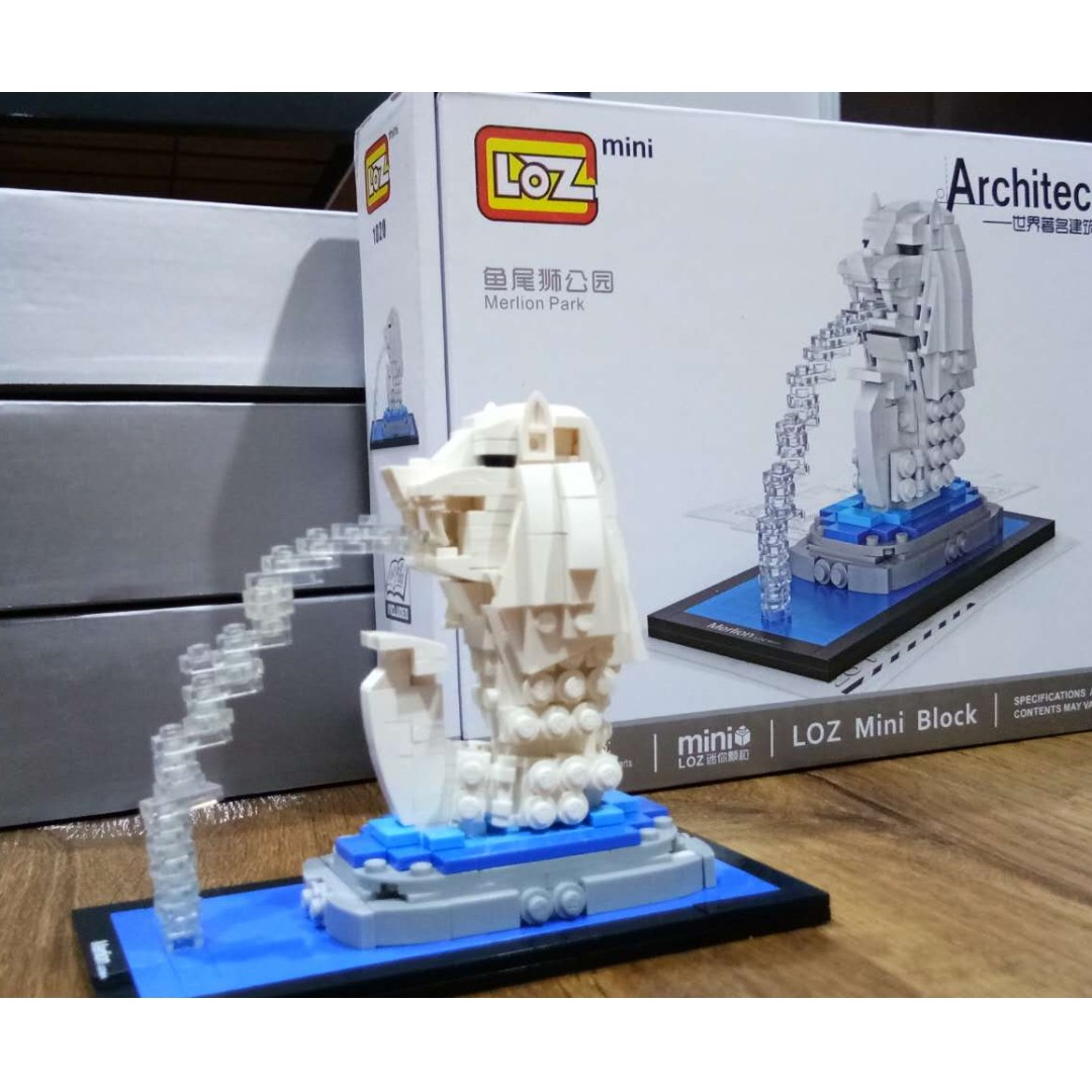 Loz Mini Blocks Minecraft T Nano Block Nanoblock Kung Fu Panda Po Merlion Singapore Toys Games Bricks Figurines On Carousell