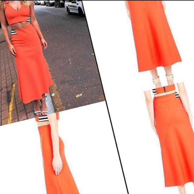 MANNING CARTELL Outside Edge Flare Skirt $399 Size 6 And Matching Cami $299 Size 8