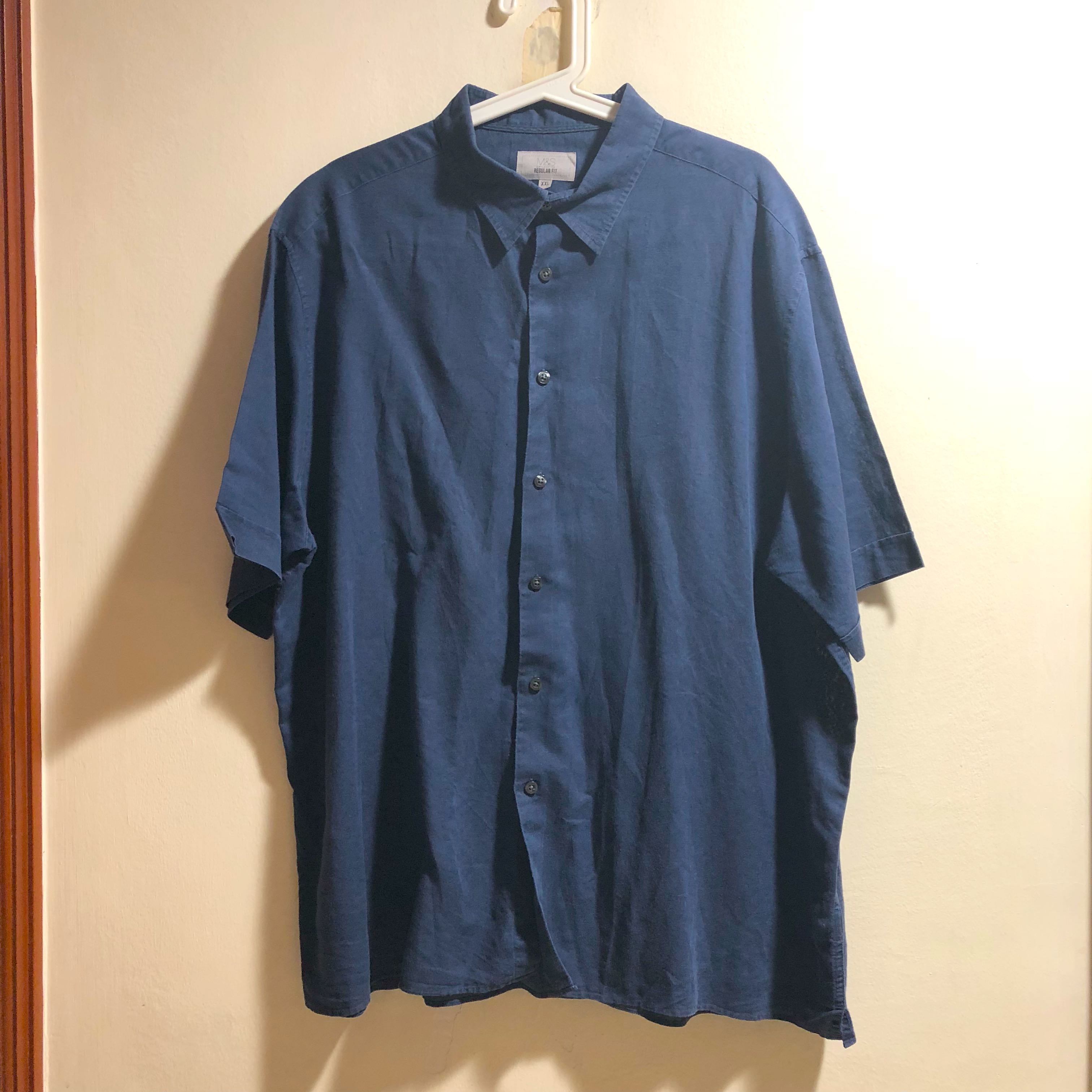 f75bb9ab8 Marks & Spencer Linen shirt in XL, Men's Fashion, Clothes, Tops on ...