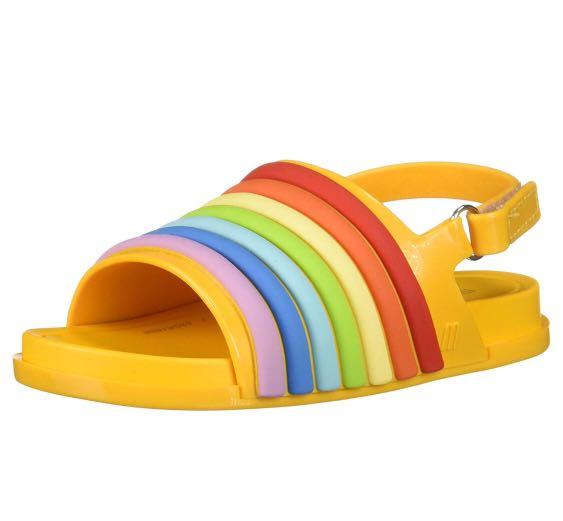 9f34d61e6 Mini Melissa Kids  Mini Beach Slide Rainbow Flat Sandal