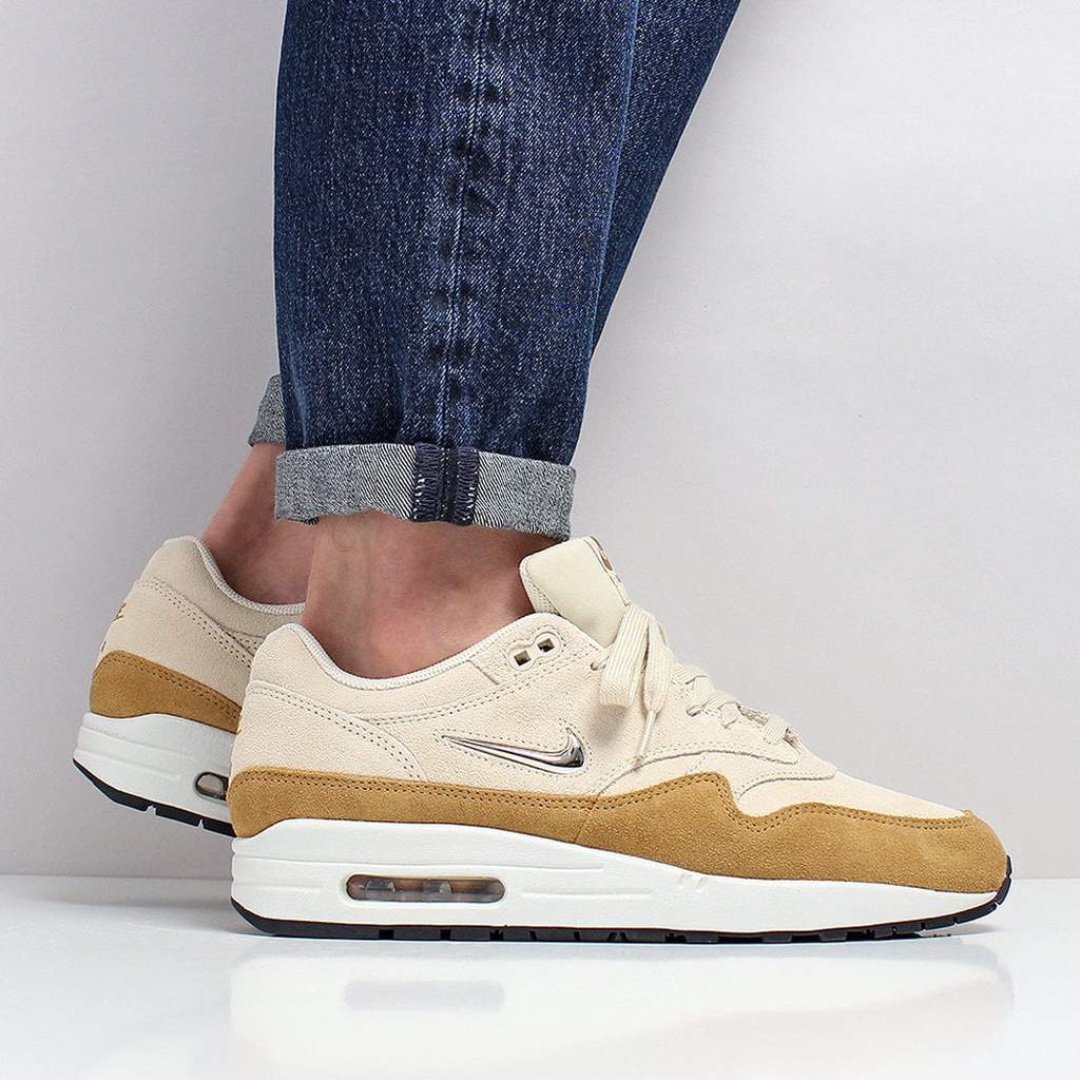7d3fd22a4174 Nike Air Max 1 Premium SC Shoes – Beach Metallic Gold Grain Muted ...