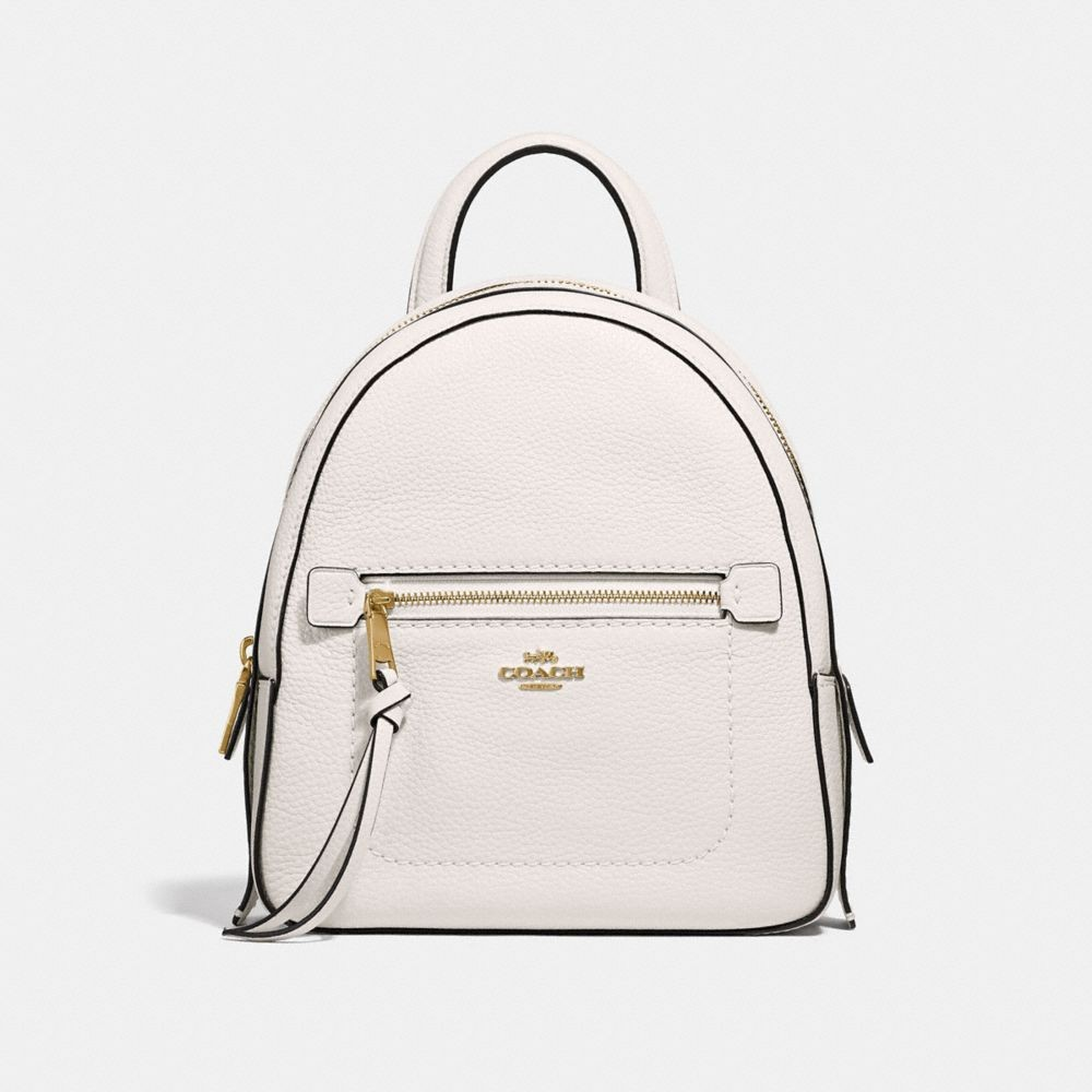 56078c0a4de6 [PO] Coach Women- Andi Mini Backpack in Chalk and Gold, Women's Fashion,  Bags & Wallets, Backpacks on Carousell