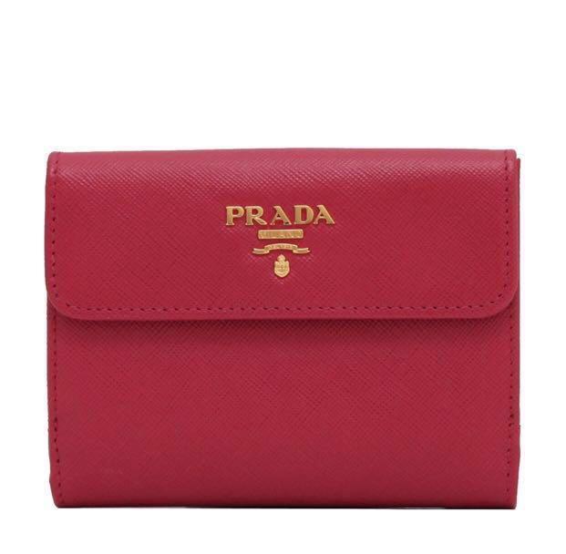 e6d1f977c15c PRADA Saffiano Leather Wallet (Pink), Luxury, Bags & Wallets ...