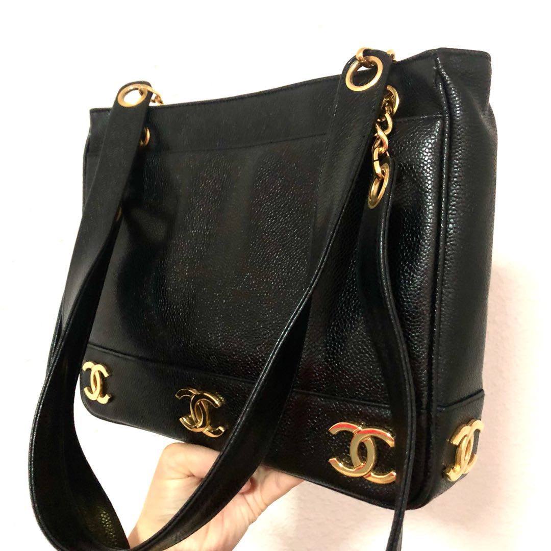 7b725866030b RESERVED Authentic Chanel Caviar All round Gold CC logo tote, Luxury ...