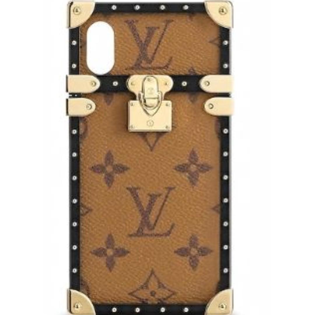 big sale 7a987 befe2 SALE Louis Vuitton Eye Trunk for Iphone X in Monogram Reverse Canvas ...