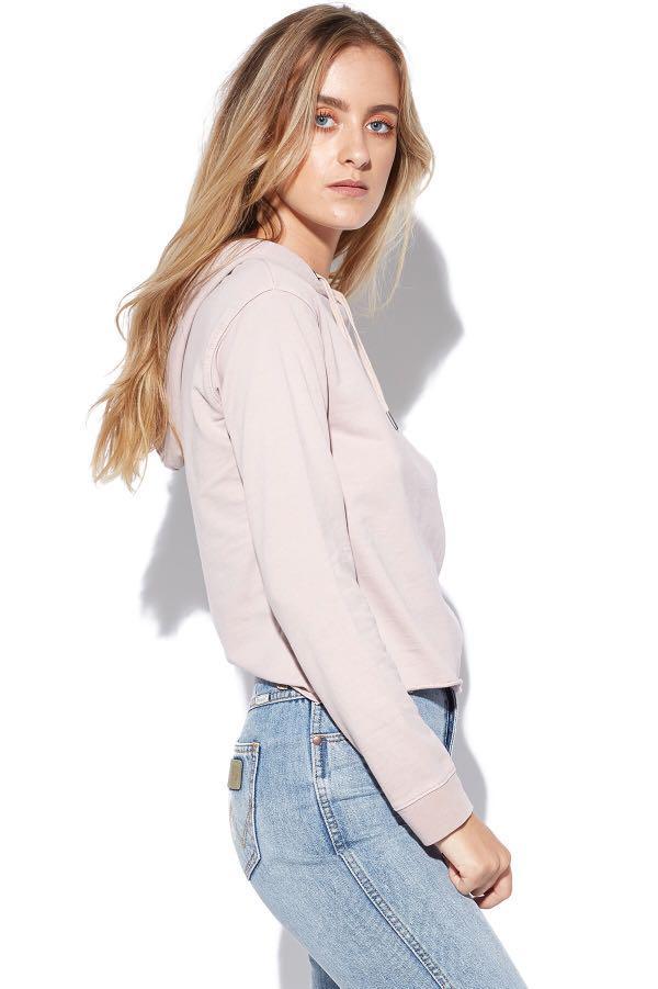 Silent Theory borderline hoodie blush