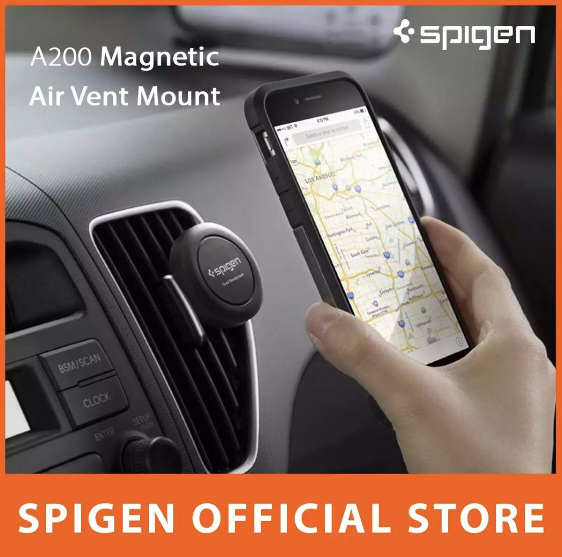 outlet store e6cb4 d931e Spigen Car Mount Air Vent Magnetic Universal