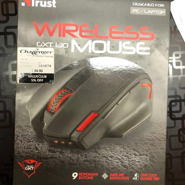 15bb8819975 Trust GXT 130 Wireless Gaming Mouse, Electronics, Computer Parts &  Accessories on Carousell