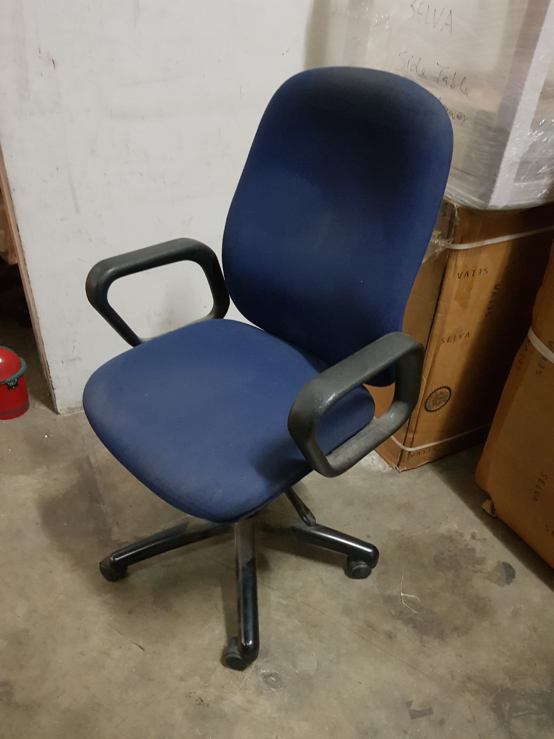 used office chair furniture tables chairs on carousell rh sg carousell com Used Office Furniture Chair Office Foot Stool