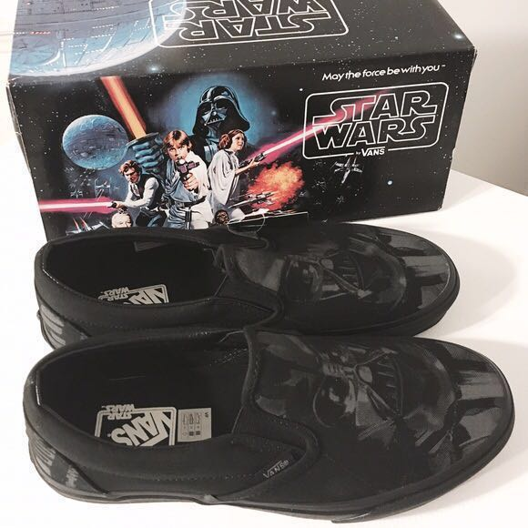 ed6138a90d0321 VANS Star Wars Darth Vader Slip On Shoes