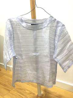 Nikicio Sheer Crumpled Boxy Top