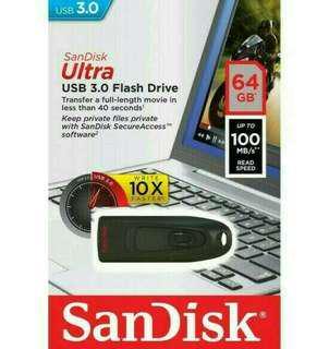 Flashdisk Sandisk 64GB Ultra 3.0