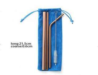 Open PO stainless reuseable straw