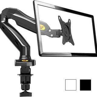 Monitor Mount Arm By North Bayou NB F80 Full Motion Desk Mount with Mount and Gas Spring for Computer Monitors 17 - 27 Inch LED LCD Flat Panel TVs from 2 to 6.5 kg