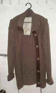 Authentic Padini Brown Knitted Long Cardigan