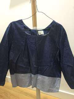 Komma Blue Top with Open Back