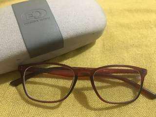 EO red/maroon Specs Eyeglasses 75/75 grade
