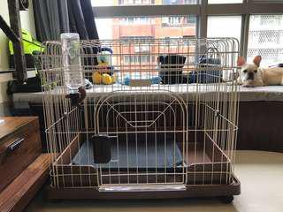 日本Marukan 可折疊精緻狗籠