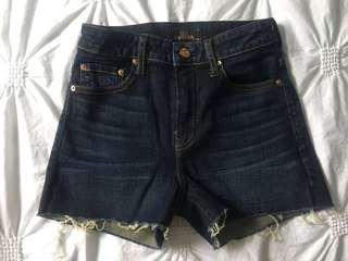 The Castings high waisted shorts size 25 Aritzia