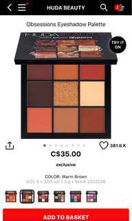 Huda beauty warm brown pallet
