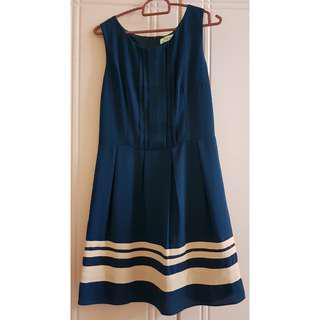 Kitschen_Navy Blue Sleeveless Dress