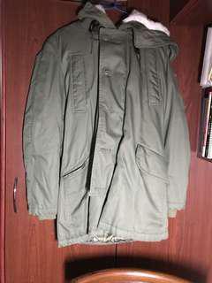 購自 日本 MOUSSY 軍綠色 外套 毛毛 褸 Jacket coat