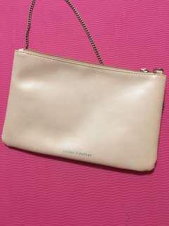 Bread n butter 粉紅色鐵鍊袋
