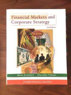 Financial Markets & Corporate Strategy *like new*