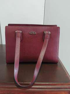 Brand new - authenic Bonia handbag (maroon)
