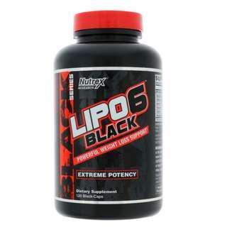 Lipo6 Black Extreme Potency, Weight Loss, 120 Black-Caps
