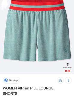 60% off Uniqlo Women Airism Pile Shorts Brand New