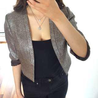 Metallic Cropped Blazer