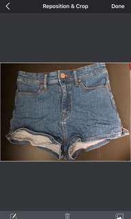 BDG Urban Outfitters Super hi rise pin up denim shorts size 26