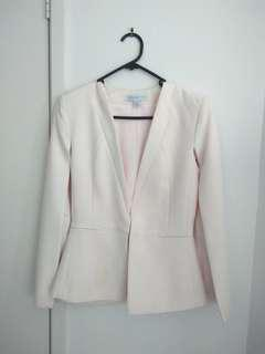 Forever new baby pink cape blazer