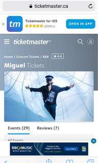MIGUEL & DVSN Tickets @RBC Echo Beah