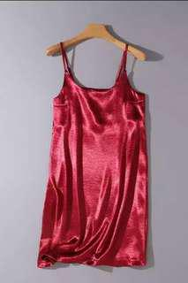 Basic Red Silk Dress (BN)