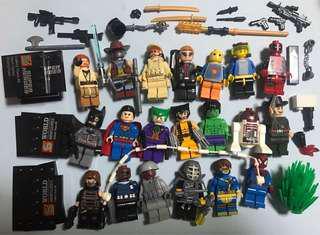 20pcs Lego Lele Blocks Minifigures and accessories