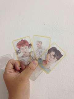 Exo lucky one transparent card