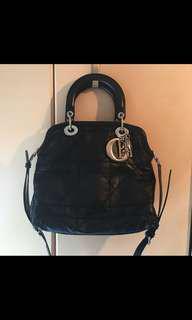Lady Dior Granville Cannage Black Leather Bag