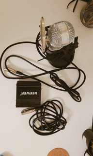 Neewer 1500 Condensed Microphone with Power Supply Adapter