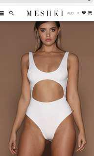 Meshki valda white body suit