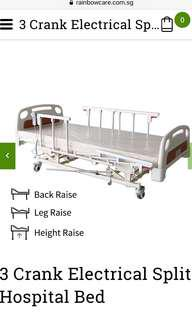 3 Crank Electrical Split Hospital Bed with Mattress