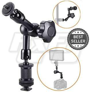 """7"""" Magic Arm, Friction Articulating Arm Hot Shoe Mount 1/4"""" Tripod Screw for Camera Rig, LCD Monitor, DV Monitor, LED Lights, Flash Lights, Microphones, DJI Osmo,Smart Phone, Gopro Canon Nikon Olympus Sony iphone"""