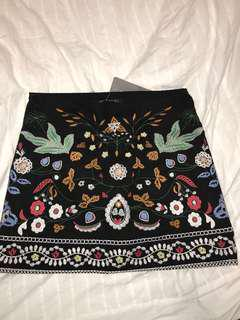 Zaful Embroidered Skirt BNWT