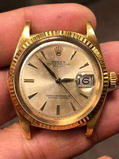 Rolex 18k 黃金1601浄頭